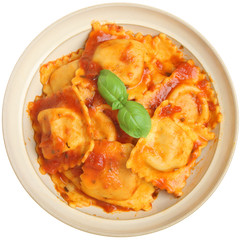 Ravioli in Tomato Sauce