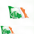 Two vector backgrounds with flag for St. Patrick's Day