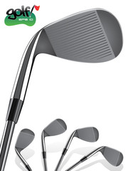 Golf Club/Close up, realistic Iron Illustration