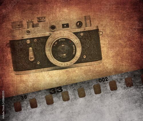 vintage-tekstury-stare-kamery-filmowej