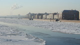 St Petersburg, Neva river in winter poster