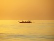 Sunset with Fishing boat