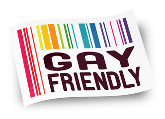 "Etiquette ""Gay friendly"""