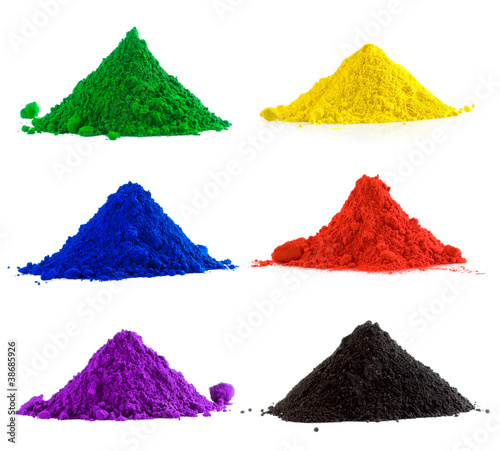 Collection of colorful powder
