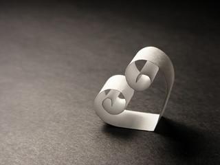 Paper heart. Love concept.