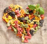Colorful Bowtie Pasta Heart