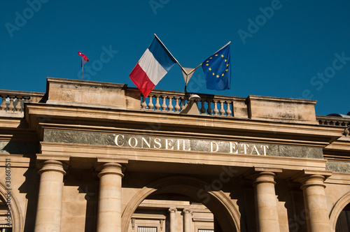 Leinwanddruck Bild conseil d'état à Paris