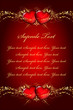 Velentines day red & gold wish card