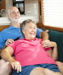 Relaxing Together in the Motor Home
