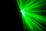 Fototapety Real green laser lights