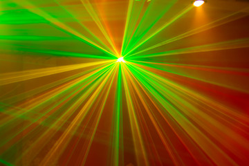 Green and Red Laser Lights