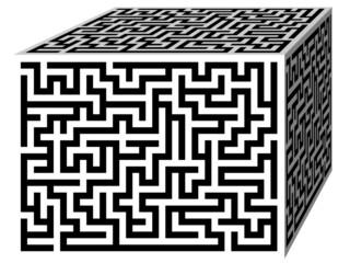 Labyrinth maze cube