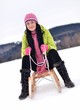 woman with sledge