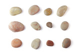 Sea pebbles collection