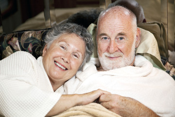 Senior Couple in Bed