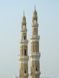 Bahrain, Manama: The Kanoo mosque beautiful twin minarets