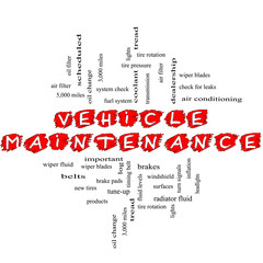Vehicle Maintenance Word Cloud Concept Scribbled