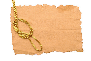 vintage paper with decorative rope border