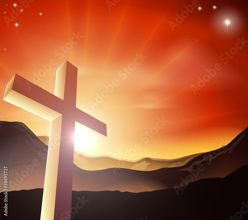 Easter cross concept