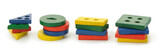 Set of logic wooden toys