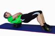 Rückenmassage mit der Pilatesrolle