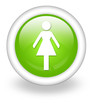 "Light Green Icon ""Ladies Restroom"""