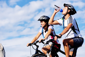 drinking cyclist