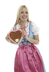 Woman with an empty German Gingerbread heart
