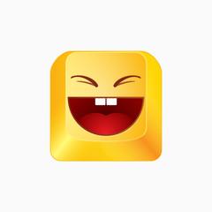 Vector smiley button -
