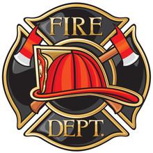 Straż pożarna lub Symbol strażacy krzyż maltański