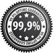 99,9% uptime label