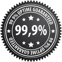 99,9% uptime label