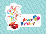 abstract birthday magic sticker