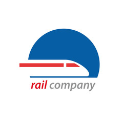 Logo railway and train # Vector