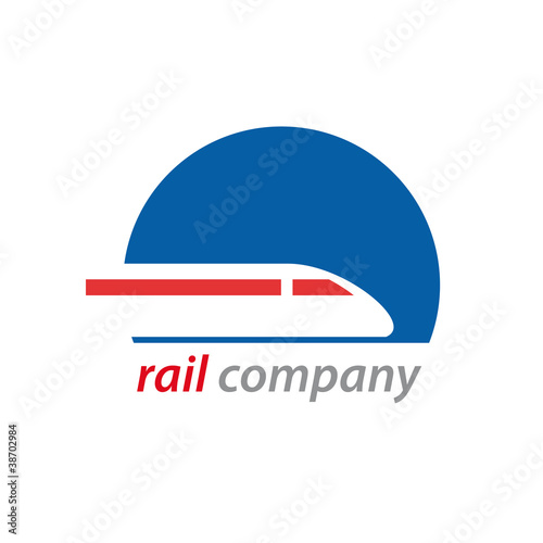 Logo railway and train # Vector