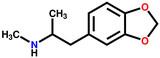 MDMA (ecstasy) structural formula poster