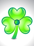 abstract shiny and glossy clover