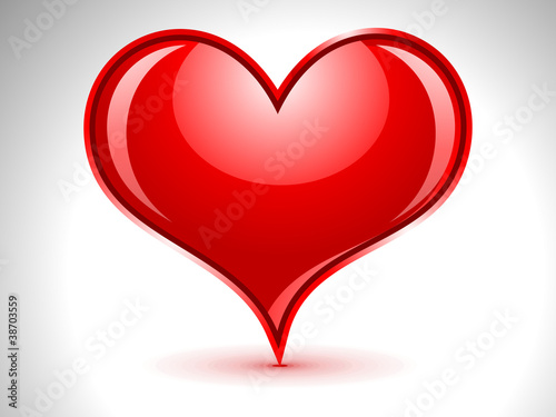 abstract glossy heart