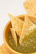 Salsa Verde with tortilla chips
