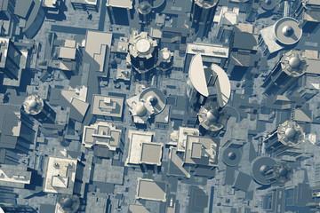 3D Metropolis Aerial View