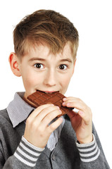 Boy Eating A chocolate bar