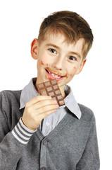 Boy Eating A chocolate