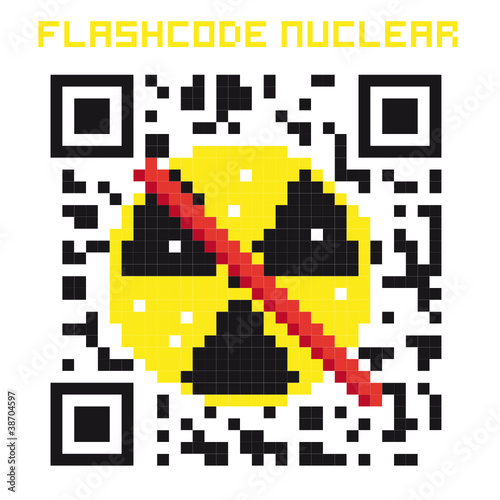 flashcode nuclear fichier vectoriel libre de droits sur la banque d 39 images image. Black Bedroom Furniture Sets. Home Design Ideas