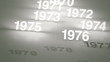 Glowing Numbers Timeline: 1970s, 1980s and 1990s