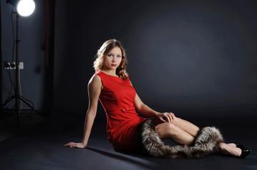 Model in the photostudio.