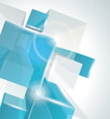 3D glass rectangles abstract background