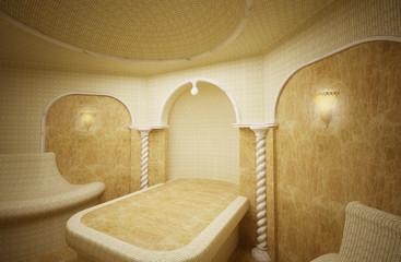 Hammam, Turkish steam room, 3-D