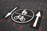 Kombinierter Radweg und Fußweg