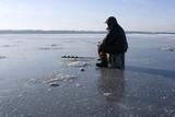 Fototapety Ice fishing on the lake
