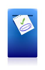 mail box and democrat vote illustration design